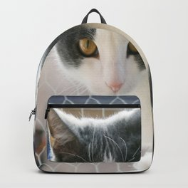 A Max And Mantle Bi Colour Cat Backpack