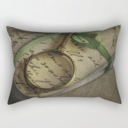 Old style loupe and vintage letters Rectangular Pillow