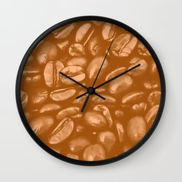 roasted coffee beans texture acrcb Wall Clock