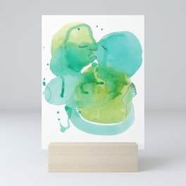 Abstract Love Making - Watercolor by Mackenna Morse Mini Art Print