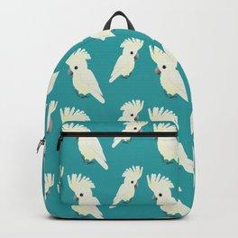 White umbrella cockatoo Backpack