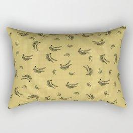 Big bang bananas: lilac triangles Rectangular Pillow