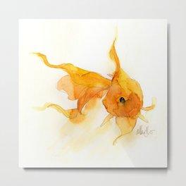 Watercolor Goldfish 1 Metal Print