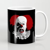 pennywise Mugs featuring IT by PsychoBudgie