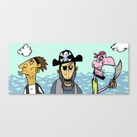 pirates Canvas Prints featuring Pirates by Jamie Clayton