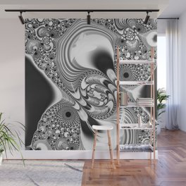 awesome Fractal Fantasy BW 3 Wall Mural