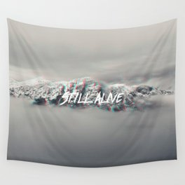 Still Alive (Glitch) Wall Tapestry