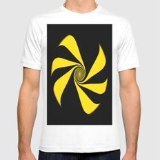 Abstract. Yellow Ribbon. MEDIUM White Mens Fitted Tee