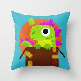 Kaiju Box Throw Pillow