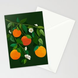 Oranges and Blossoms / Botanical Illustration Stationery Cards