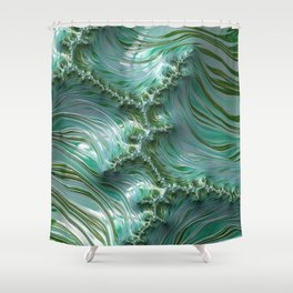 Frothy Waves Shower Curtain