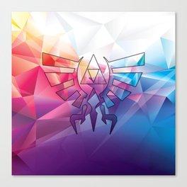 Zelda Triforce colorful Diamond Canvas Print
