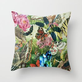 The Cabinet of Curiosities Throw Pillow