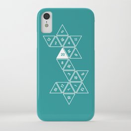 Teal Unrolled D20 iPhone Case