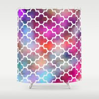 moroccan Shower Curtains featuring Moroccan by hollllllyj