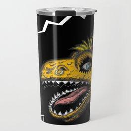 """SHMUT, The Valley-Girl Dinosaur: sez """"Like, Grr, Man Travel Mug"""