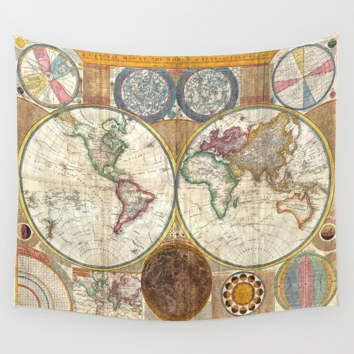 Old world map wall tapestry by paperboundlove society6 old world map wall tapestry gumiabroncs Images