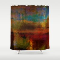 return Shower Curtains featuring The return of the gondolier by Joe Ganech