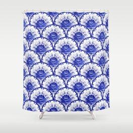 Blue rose Shower Curtain