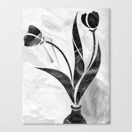 Tulips (Black&White) Canvas Print