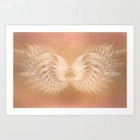 angel wings Art Prints featuring Angel Wings by Selina Morgan
