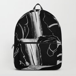 Plant in Blue Marker - Leaf of Life Miracle Leaf - White on Black Backpack
