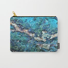Turquoise Teal Blue Mineral Carry-All Pouch