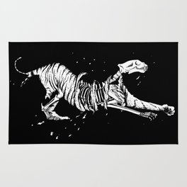 Tiger of Death (black) Rug