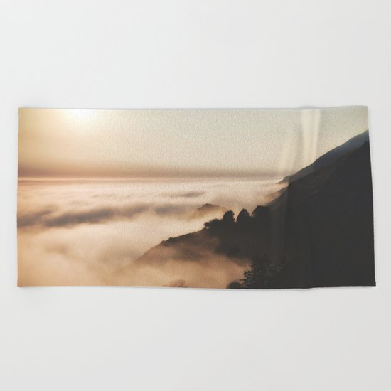 Mountain Fog #sun Beach Towel