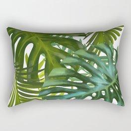 Palm and Monstra Rectangular Pillow