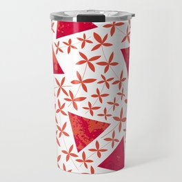 Shapes in Nature : Red Travel Mug