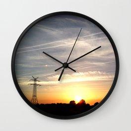 The evening Wall Clock