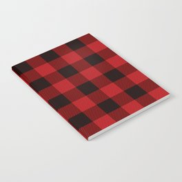 Red Buffalo Plaid Notebook