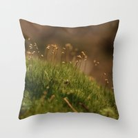 moss Throw Pillows featuring Moss by A Wandering Soul