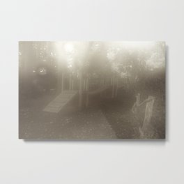 Misty Playground Metal Print
