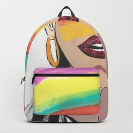 Colorful Woman Backpack