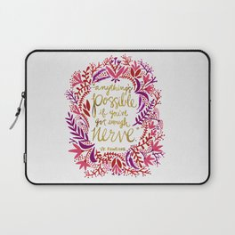 Anything's Possible – Gold & Red Laptop Sleeve