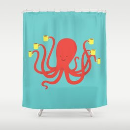 more coffee... Shower Curtain