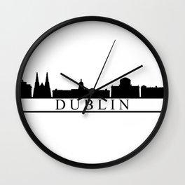 dublin skyline Wall Clock