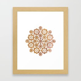 IG gold Framed Art Print