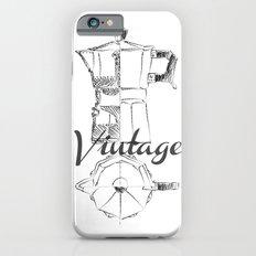 Coffee pot blueprint sketch  iPhone 6s Slim Case