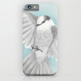 Gray Jay in Flight iPhone Case