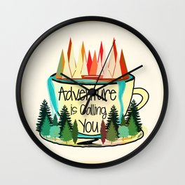 Adventure is Calling You Wall Clock