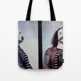 David Crosby Mug Shot Classic Rock Tote Bag