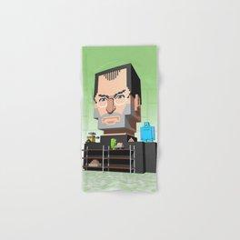 Steve Jobs 3D pixel portrait Hand & Bath Towel