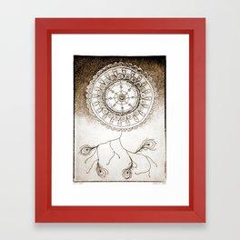 Stay Calm Sepia Framed Art Print