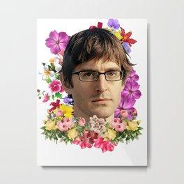 Louis Theroux Flower Metal Print
