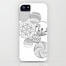 Mandalas, circles and flowers iPhone Case