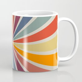 Spiral Stripe Retro Rainbow Coffee Mug