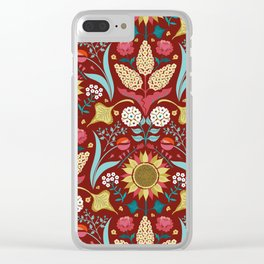 Florid Dreams Red Clear iPhone Case